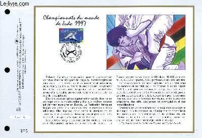 FEUILLET ARTISTIQUE PHILATELIQUE - CEF - N° 1340 - CHAMPIONNAT DU MONDE DE JUDO 1997