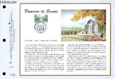 FEUILLET ARTISTIQUE PHILATELIQUE - CEF - N° 1341 - DOMAINE DE SCEAUX