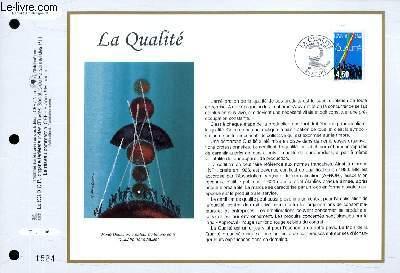 FEUILLET ARTISTIQUE PHILATELIQUE - CEF - N° 1343 - LA QUALITE