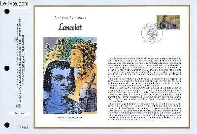 FEUILLET ARTISTIQUE PHILATELIQUE - CEF - N° 1345 - LES HEROS D'AVENTURES - LANCELOT