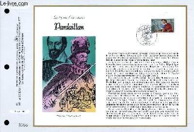 FEUILLET ARTISTIQUE PHILATELIQUE - CEF - N° 1346 - LES HEROS D'AVENTURES : PARDAILLAN
