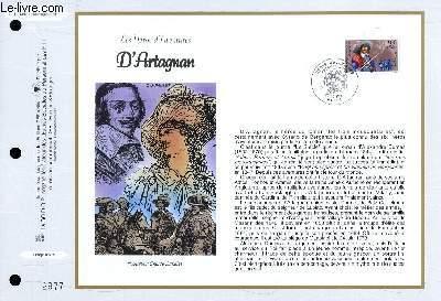 FEUILLET ARTISTIQUE PHILATELIQUE - CEF - N° 1347 - LES HEROS D'AVENTURE : D'ARTAGNAN