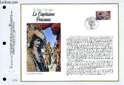 FEUILLET ARTISTIQUE PHILATELIQUE - CEF - N° 1349 - LES HEROS D'AVENTURE : LE CAPITAINE FRACASSE