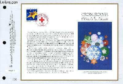 FEUILLET ARTISTIQUE PHILATELIQUE - CEF - N� 1351 - CROIS-ROUGE : FETE DE FIN D'ANNEE