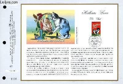 FEUILLET ARTISTIQUE PHILATELIQUE - CEF - N° 1352 - MEILLEURS VOEUX - LE CHAT