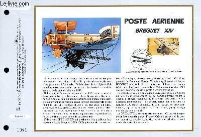 FEUILLET ARTISTIQUE PHILATELIQUE - CEF - N° 1353 - POSTE AERIENNE : BREGUET 14