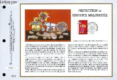 FEUILLET ARTISTIQUE PHILATELIQUE - CEF - N° 1354 -  PROTECTION DE L'ENFANCE MALTRAITEE