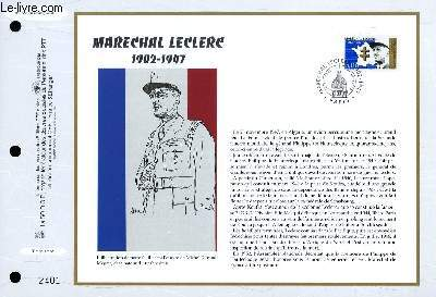 FEUILLET ARTISTIQUE PHILATELIQUE - CEF - N° 1356 - MARECHAL LECLERC 1902-1947
