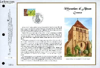 FEUILLET ARTISTIQUE PHILATELIQUE - CEF - N� 1358 - MOUTIER D'ALBUM - CREUSE