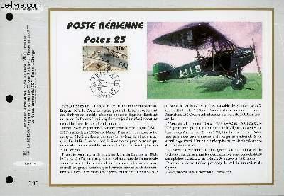 FEUILLET ARTISTIQUE PHILATELIQUE - CEF - N° 1386 - POSTE AERIENNE - POTEZ 25