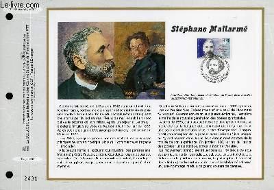 FEUILLET ARTISTIQUE PHILATELIQUE - CEF - N° 1387 - STEPHANE MALLARME