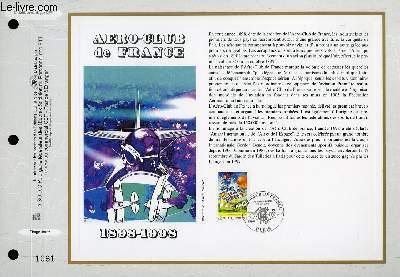 FEUILLET ARTISTIQUE PHILATELIQUE - CEF - N° 1388 - AERO-CLUB DE FRANCE 1898-1989