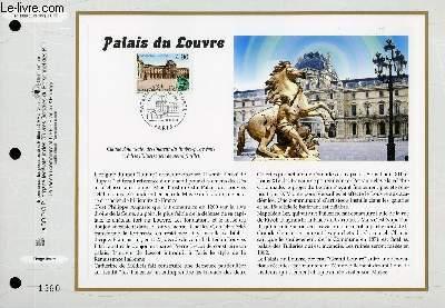 FEUILLET ARTISTIQUE PHILATELIQUE - CEF - N° 1389 - PALAIS DU LOUVRE