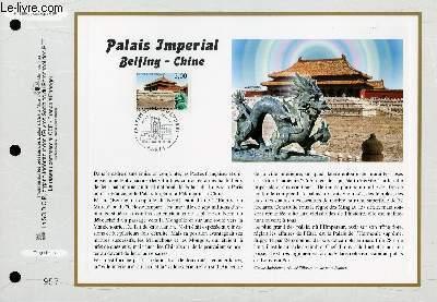 FEUILLET ARTISTIQUE PHILATELIQUE - CEF - N° 1390 - PALAIS IMPERIAL - BEIJING - CHINE