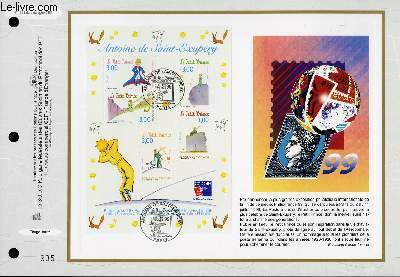 FEUILLET ARTISTIQUE PHILATELIQUE - CEF - N° 1391 - ANTOINE DE SAINT-EXUPERY