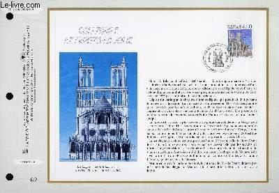 FEUILLET ARTISTIQUE PHILATELIQUE - CEF - N� 1392 - COLLEGIALE DE MANTE LA JOLIE
