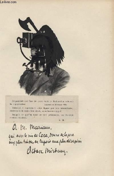 FIGURES CONTEMPORAINES tirées de l'Album Mariani. OCTAVE MIRBEAU (portrait censuré)