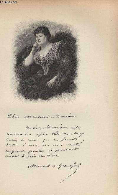FIGURES CONTEMPORAINES tirées de l'Album Mariani. Mme MANOEL DE GRANDFORT