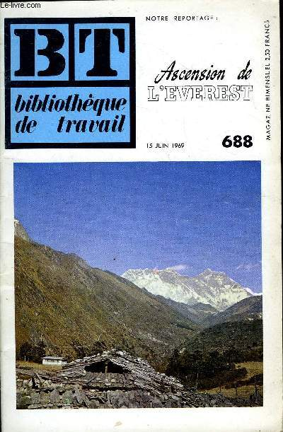 BIBLIOTHEQUE DE TRAVAIL N°688 - ASCENSION DE L'EVEREST