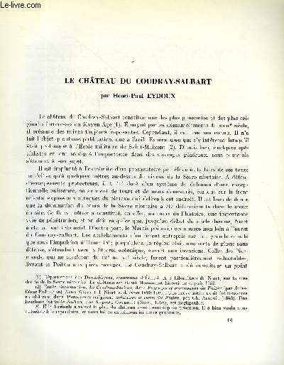 BULLETIN MONUMENTAL 125e VOLUME DE LA COLLECTION N°3 - LE CHATEAU DU COUDRAY-SALBART PAR  HENRI-PAUL EYDOUX