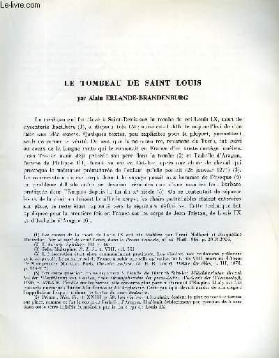 BULLETIN MONUMENTAL 126e VOLUME DE LA COLLECTION N°1 - LE TOMBEAU DE SAINT LOUIS PAR ALAIN ERLANDE-BRANDENBURG