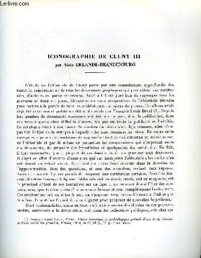 BULLETIN MONUMENTAL 126e VOLUME DE LA COLLECTION N°3 - ICONOGRAPHIE DE CLUNY III PAR ALAIN ERLANDE-BRANDENBURG