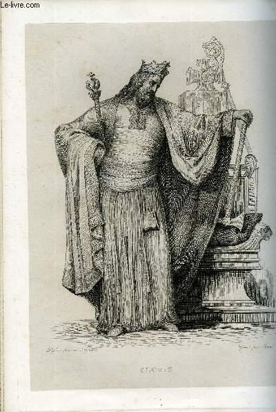 EXTRAIT DU PLUTARQUE FRANCAIS TOME 1 - Vies des hommes et des femmes illustres de la France depuis le cinquième siècle jusqu'à nos jours. CLOVIS, NE EN 465, MORT EN 511