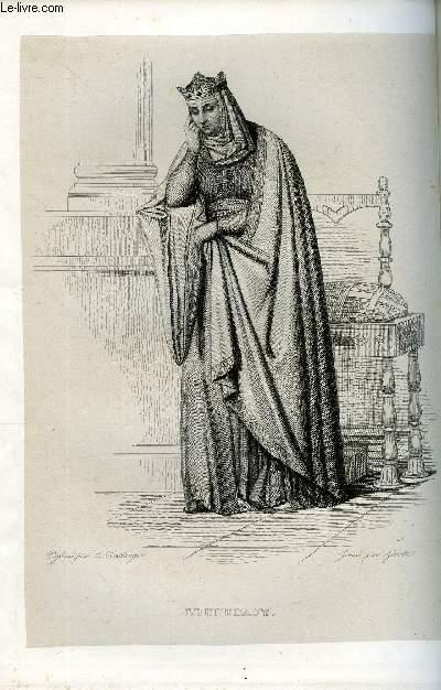 EXTRAIT DU PLUTARQUE FRANCAIS TOME 1 - Vies des hommes et des femmes illustres de la France depuis le cinquième siècle jusqu'à nos jours. BRUNEHAUT, NE VERS 544, MORTE EN 613
