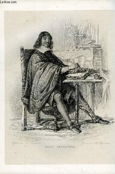 EXTRAIT DU PLUTARQUE FRANCAIS TOME 3 - Vies des hommes et des femmes illustres de la France depuis le cinquième siècle jusqu'à nos jours. DESCARTES, NE EN 1596, MORT EN 1650