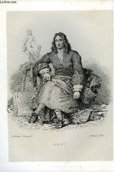 EXTRAIT DU PLUTARQUE FRANCAIS TOME 4 - Vies des hommes et des femmes illustres de la France depuis le cinquième siècle jusqu'à nos jours. PUGET, NE EN 1622, MORT EN 1694