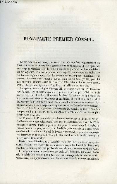EXTRAIT DU PLUTARQUE FRANCAIS TOME 6 - Vies des hommes et des femmes illustres de la France depuis le cinquième siècle jusqu'à nos jours. BONAPARTE PREMIER CONSUL.