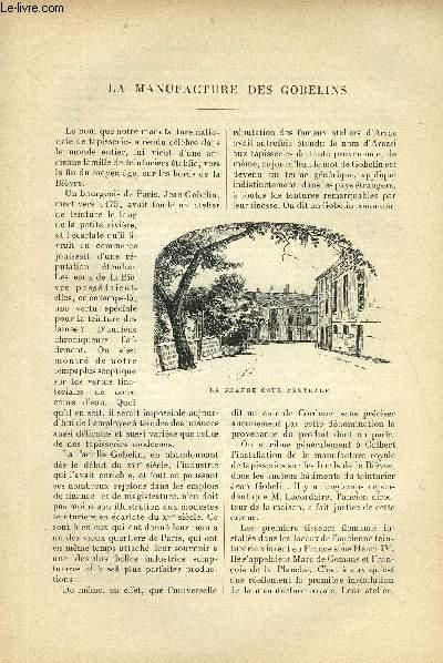 LE MONDE MODERNE TOME 4 - LA MANUFACTURE DES GOBELINS