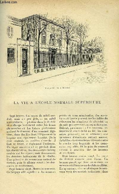LE MONDE MODERNE TOME 14 - LA VIE A L'ECOLE NORMALE SUPERIEURE