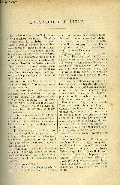 LE MONDE MODERNE TOME 16 - L'ESCARBOUCLE BLEUE