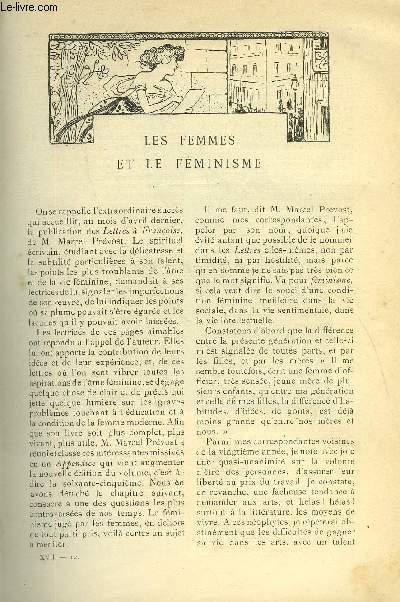 LE MONDE MODERNE TOME 17 - LES FEMMES ET LE FEMINISME