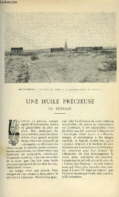 LE MONDE MODERNE TOME 19 - UNE HUILE PRECIEUSE - LE PETROLE