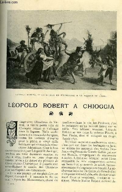 LE MONDE MODERNE TOME 23 - LEOPOLD ROBERT A CHIOGGIA