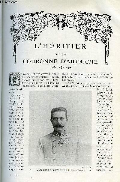 LE MONDE MODERNE TOME 27 - L'HERITIER DE LA COURONNE D'AUTRICHE