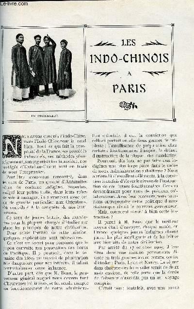 LE MONDE MODERNE TOME 27 - LES INDO-CHINOIS A PARIS