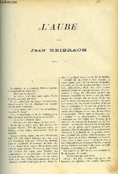 LE MONDE MODERNE - SUPPLEMENT CONSACRE AU ROMAN CONTEMPORAIN N°1 - L'AUBE
