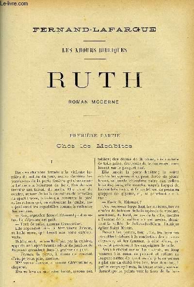 LE MONDE MODERNE - SUPPLEMENT CONSACRE AU ROMAN CONTEMPORAIN N°2 - LES MAOURS BIBLIQUES, RUTH