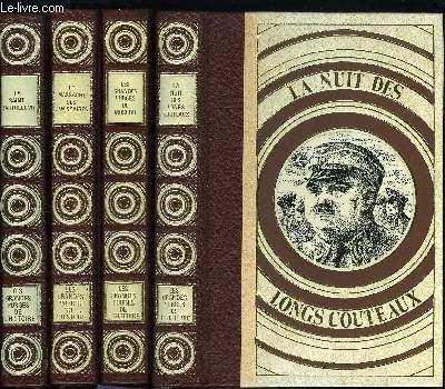 LES GRANDES PURGES DE L'HISTOIRE EN 4 TOMES - LA SAINT BARTHELEMY - LE MASSACRE DES JANISSAIRES - LES GRANDES PURGES DE MOSCOU - LA NUIT DES LONGS COUTEAUX