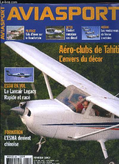 AVIASPORT N° 623 - Le billet de Bernard Chabbert - Le vol, un amout qui s'entretient, Le Cobra, un nouveau venu prometteur que vient deja concurrencer le DA-50, Près d'un Français et d'une Française sur deux souhaite piloter, encourageons-les !