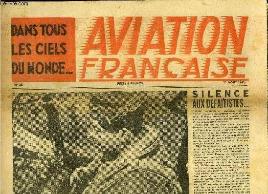 AVIATION FRANCAISE N° 26 - L'atelier aéronautique de Suresnes : Une grande équipe, Les méthodes de navigation du bomber Command, 140 fois le tour du monde avec le G.L.A.M., Comment réduire la consommation de lubrifiant, Dans les moteurs d'aviation