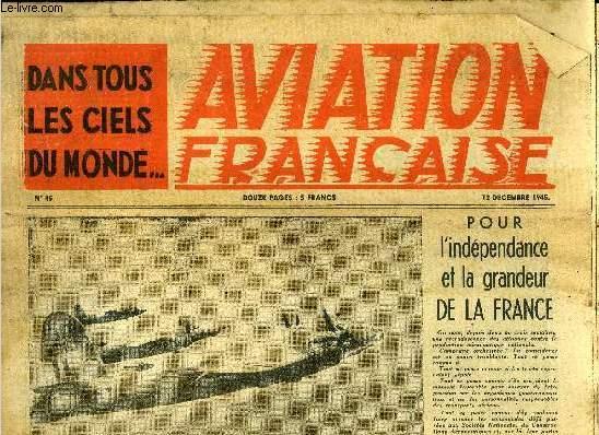 AVIATION FRANCAISE N° 45 - Le Breguet 500 Colmar, Le page des usines, Le refroidissement des moteurs par injection d'eau, Jeunes ailes