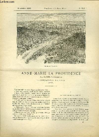 SUPPLEMENT A LA REVUE MAME N° 210 - Anne-Marie la providence (suite) par Daniel Laumonier, illustrations de Orazi