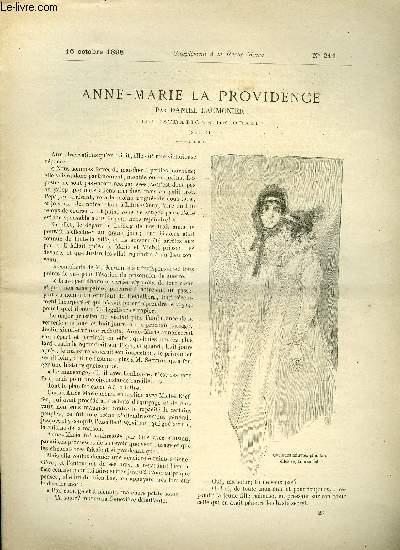 SUPPLEMENT A LA REVUE MAME N° 211 - Anne-Marie la providence (suite) par Daniel Laumonier, illustrations de Orazi