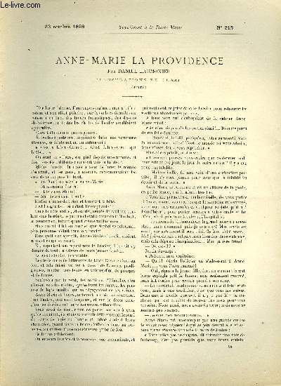 SUPPLEMENT A LA REVUE MAME N° 212 - Anne-Marie la providence (suite) par Daniel Laumonier, illustrations de Orazi