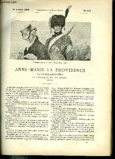 SUPPLEMENT A LA REVUE MAME N° 213 - Anne-Marie la providence (suite) par Daniel Laumonier, illustrations de Orazi