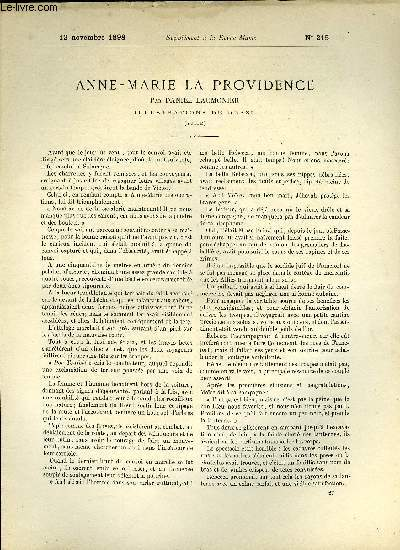 SUPPLEMENT A LA REVUE MAME N° 215 - Anne-Marie la providence (suite) par Daniel Laumonier, illustrations de Orazi